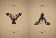 Reversal Illustrations For Jeep Campaign  L'agence créative Leo Burnett France a imaginé une campagne d'illustrations très originales pour la marque de voitures Jeep. Un éléphant, un faon et une girafe sont représentés et en inversant le dessin, nous voyons apparaitre un pingouin, un paon et un phoque. Le tout sur le slogan : « See whatever you want to see ».