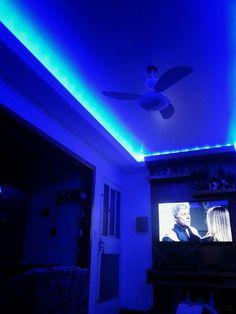 Hidden Lighting, Strip Lighting, Lighting Ideas, Bedroom Ceiling, Bedroom Lighting, Lights Around Mirror, Apartment Inspiration, Master Suite, Hippy Room