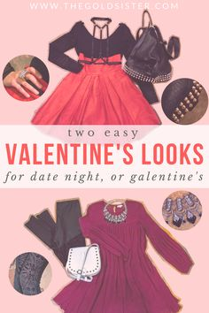 Two valentine's looks, perfect for celebrating with a date night or with your ladies! Click through to shop the looks! Valentines Day Date, Valentines Outfits, Unique Vintage, Vintage Style, Vintage Fashion, Vintage Dresses, Vintage Outfits, Challenge Accepted, Style Watch