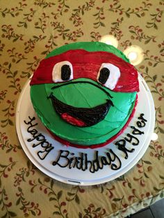 Ninja Turtle Rafael birthday cake by MyCakes Cake creations
