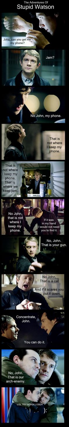 This wouldn't have happened, nor would it be so funny, if we had series three.