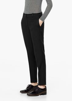 Wool suit trousers - Trousers for Women | MANGO