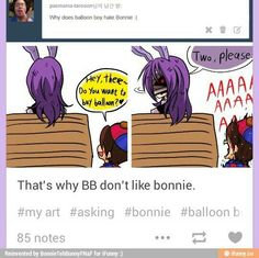 that's why bb don't like bonnie.