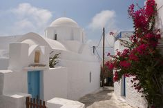 A small in beautiful Hora; by Max Cremascoli on Paros, Myconos, Small Island, Archipelago, Greek Islands, Landscape Art, Santorini, Vacations