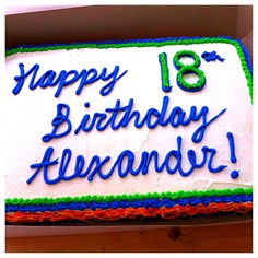 Fun birthday cake! Visit 3rdgenerationsbakery.com to see more