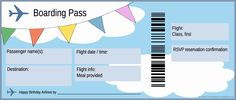 free boarding pass template - Google Search