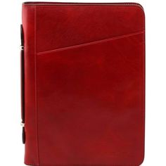 This italian leather document case has an open pocket on the front side Zip closure on three sides Inside part 4 compartments Credit card holder - € Art Du Cuir, Leather Handle, Leather Bag, Ring Organizer, Leather Portfolio, Red Bags, Messing, Laptop Bag, Italian Leather