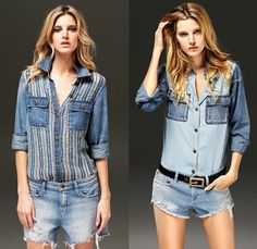 D-ID Jeans 2014 Spring Womens Lookbook Collection - Jimmy Taverniti - Denim Jeans Cutoffs Shorts Faded Destroyed Frayed Dots Knit Crochet Sheer Chiffon Peekaboo Mesh Shirt Multi-Panel Boyfriend Lattice Grid Windowpane Motorcycle Biker Rider White Outfit Zipper Slashed