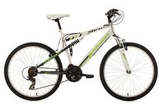 "Full Suspension Mountain Bike 26"" Paladin White-Green 21 Gear KS Cycling  Price…"