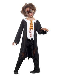 Costume da scolaro di magia zombie per bambino 3d51b9376a52