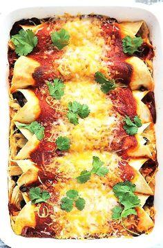 Lage FODMAP Recept en glutenvrij Recept - Chicken enchiladas