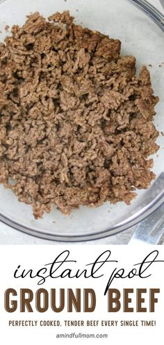 Instant Pot Ground Beef is great for your easy food recipes! Get perfectly cooked and tender beef every single time in the pressure cooker. With these helpful directions and troubleshooting tips, you are well on your way to cooking ground beef from fresh and frozen!