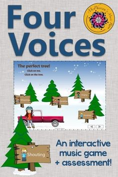 Fun elementary music interactive game! Your students will love the 4 voices (whispering, speaking, singing and shouting). Excellent Orff and Kodaly resource! Works great on Smartboard too!