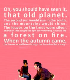 """Fan Art of Memories of Gallifrey, 3.02 """"The Shakespeare Code"""" for fans of Doctor Who's Companions. The 10th Doctor shares with Martha his memories of Gallifrey."""