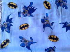 Batman fabric comic book style with blue background. by JeAdore, $7.50