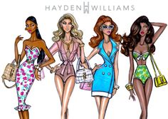 Boldly Beautiful, Sun-Kissed Summer, Feeling Retro & Tropical Treasure by Hayden Williams