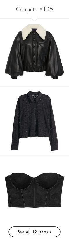"""""""Conjunto #145"""" by laarochaa ❤ liked on Polyvore featuring outerwear, jackets, rodarte, tops, blouses, collar blouse, short-sleeve blouse, short sleeve long tops, collar top and button top"""