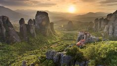 Greece, Thessaly, Meteora, Holy Monastery of Rousanou Places In Greece, Greece Photography, Sky Garden, Landscape Photographers, Planet Earth, Places To Go, Beautiful Places, Nature, Travel