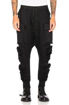 UNRAVEL Terry Parachutes Cargo Pants. #unravel #cloth #