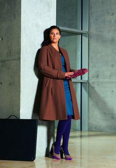 Long A-line Coat (Plus Size) 10/2011