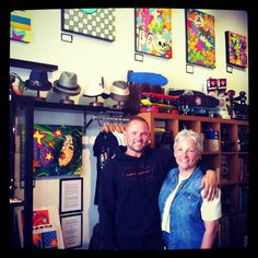 """Hanging with MOM at the """"FEEL IT"""" Exhibit in San Diego, Ca. On her visit from VA!"""