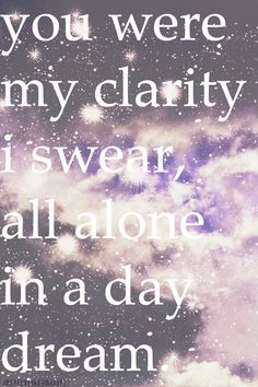 Yeah there was magic in the air and you we were here beside me. Up All Night ~ Owl City