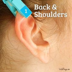 The upper-most portion of the ear is directly connected to your back and shoulders. Applying a clothespin for about a minute should go a long way to reduce built-up tension. Try this several times a day to lessen that back and shoulder pain.