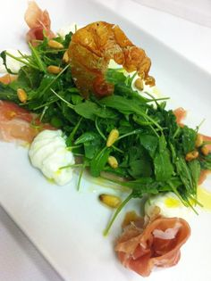 The new menu at L'Ermitage Beverly Hills include a Proscuitto & Stracciatella salad with lemon-pine nut vinaigrette