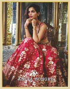 #EpicLove - Anita Dongre Bridal Couture 2016 #ICW2016 @thefdci #bridal #bride #indianbride #wedding #lehenga #AnitaDongre #Couture #fashion #india #rajasthan #embroiderey #handmade #handcrafted #zari #gotapatti #luxury
