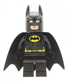 Help save Gotham City with this new iconic LEGO DC Universe Super Heroes Batman clock! The perfect addition to every LEGO DC Universe Super Heroes collection the decor features a digital lighted di. Minifigura Lego, Buy Lego, Lego Star, Legos, Lego Batman Figures, Spiderman, Lego Batman Movie, Batman Stuff, Batman Figura