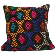 Handmade Turkish Kilim Pillow Cushion Cover (approx 16  x 16 ) - code kz216