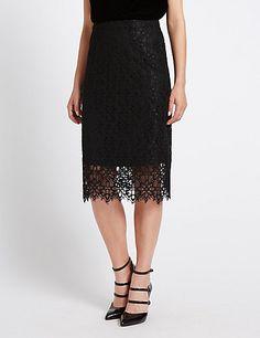 Lace Midi Skirt | M&S
