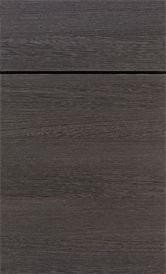 Color of floor we want Derazi clean-cut, modern slab cabinet doors bring modern styling to the forefront in a textured horizontal wood grain laminate.