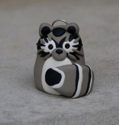 Finger Puppet Pendant (Raccoon)  (An exclusive design of Magpie Designs. Copyright, 2013. All Rights Reserved.)
