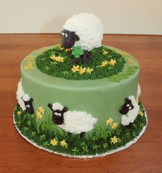 Bildergebnis für shaun the sheep cake Fancy Cakes, Cute Cakes, Yummy Cakes, Aid Adha, Shaun The Sheep Cake, Lamb Cake, Animal Cakes, Novelty Cakes, Creative Cakes