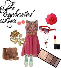 """""""The Enchanted Rose"""" by agust20 ❤ liked on Polyvore"""