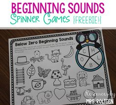 Beginning Sound Spinner Games {Freebie!} | This is a set of FREE spinner games that help your Kindergarten classroom or homeschool students practice beginning sounds! These fun penguin-themed games can be used individually or with partners, and could even be used in guided reading groups. There are three different versions of the game board, and there are color and black & white versions for each board. Great for December and January. (Kindy, kinders, kinder, home school)