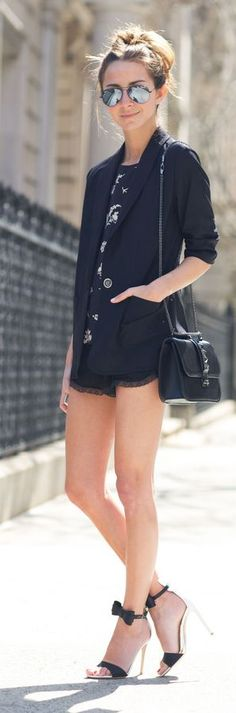 Karen Kane Blazer Outfit Idea by SOMETHING NAVY