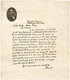 letter abraham lincoln mrs bixby bixby letter on letters who was 13109