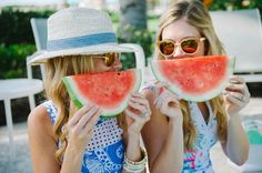 Summer fun in the sun. We want what these girls are having.