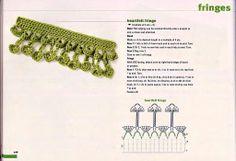 View album on Yandex. Crochet Chain, Crochet Fringe, Crochet Round, Crochet Motif, Crochet Flowers, Crochet Lace, Crochet Stitches, Crochet Patterns, Crochet Boarders