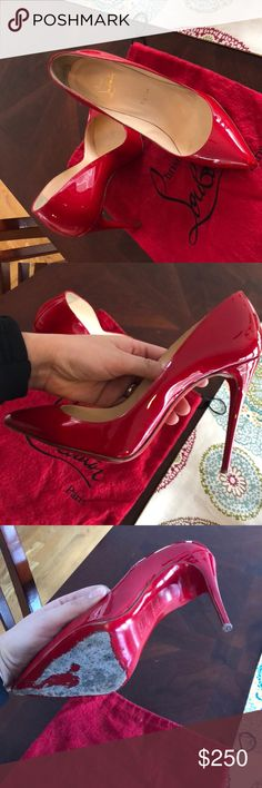 Red Pigalle Christian Louboutins Size 38 1/2. My feet are not narrow enough so they are uncomfortable for me. Good condition Christian Louboutin Shoes Heels