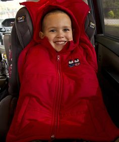 Look at this #zulilyfind! Red CozyWoggle Car Seat Coat - Infant, Toddler & Kids by CJ's Kids #zulilyfinds