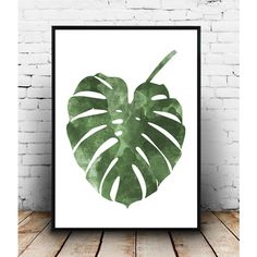 Monstera poster, botanical art, nordic design, boho chic, Wall decor,... (€8,76) ❤ liked on Polyvore featuring home, home decor and wall art