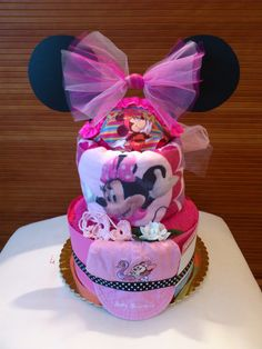 BABY SHOWER~Minnie Mouse diaper cake