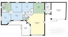 Plan Rez-de-chaussée - maison - Maison de plain-pied 3
