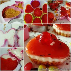 Mini-Tartas de Queso & Mermelada de Fresa!!Perfectas para Regalar.¡En 10 Min!   Las Recetas & Trucos de Anna