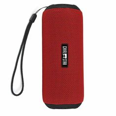 Portable Wireless Speaker IPX6 Waterproof Outdoor Bluetooth V4.1 Speakers 12W Fabric Covering Indoor cycling Sports Red #Affiliate