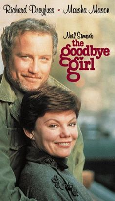 """""""The Goodbye Girl"""" - Richard Dreyfuss and Marsha Mason made the perfect couple in this romantic comedy. Old Movies, Great Movies, Awesome Movies, Famous Movies, Love Movie, Movie Tv, Movie Theater, The Goodbye Girl, Classic Hollywood"""