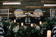 Ruffled - photo by Sarah Libby Photography http://ruffledblog.com/modern-black-and-white-wedding-with-emerald